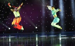 La mosca dell'aquila---Danza popolare della Mongolia Immagine Stock