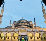 La moschea blu, Costantinopoli fotografie stock libere da diritti