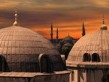 La moschea blu a Costantinopoli Immagine Stock Libera da Diritti