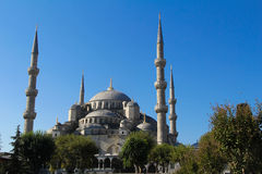 La moschea blu - Costantinopoli, Turchia Fotografie Stock Libere da Diritti