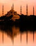 La moschea blu, Costantinopoli, Turchia Fotografia Stock Libera da Diritti