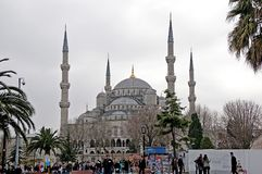 La moschea blu ha chiamato Sultanahmet Camii in TurkishIstanbul Immagini Stock