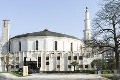 La moschea a Bruxelles fotografia stock libera da diritti