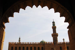 La moschea con il blocco per grafici Immagini Stock