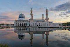La moschea della città di Kota Kinabalu Fotografie Stock Libere da Diritti