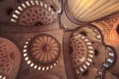 La moschea di Ahmed del sultano - moschea blu di Costantinopoli Fotografie Stock