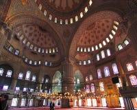 La moschea di Ahmed del sultano - moschea blu di Costantinopoli Immagine Stock Libera da Diritti