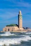 La moschea di Hassan II a Casablanca. Il Marocco Fotografie Stock Libere da Diritti