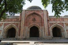 La moschea di Jamali-Kamali, parco archeologico di Mehrauli, Nuova Delhi Immagine Stock Libera da Diritti