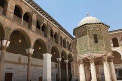 La moschea di Umayyad, Damasco. Immagini Stock Libere da Diritti