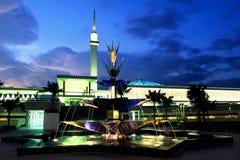 La moschea nazionale della Malesia Fotografia Stock