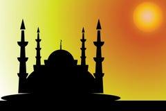 La mosquée bienvenue et le vecteur de Ramadan ont ouvré la conception Photo stock