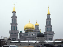 La mosquée de cathédrale de Moscou transforment à partir de 2007-2015 Images libres de droits