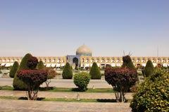 La mosquée de Lotfollah sur la place de Naqsh-e Jahan dans la ville d'Isphahan, Iran Image stock