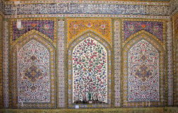 La mosquée du régent, Shiras, Iran Photos stock