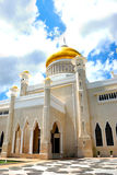 la mosquée Omar d'ali saifuddien photo stock