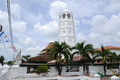 La mosquée ou le Masjid Tengkera de Tranquerah Images libres de droits