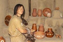 La mostra che alloggia la gente antica Immagine Stock Libera da Diritti