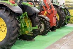 La mostra di nuovi trattori per l'agricoltura ed altra funziona Fotografie Stock Libere da Diritti