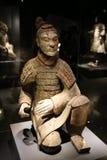 La mostra di Qin Figures immagini stock