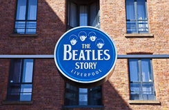 La mostra di storia di Beatles Immagine Stock