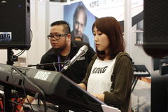 La mostra internazionale 2014 degli strumenti musicali di Shanghai Immagini Stock