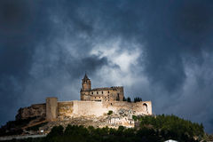 La Mota castle on the hill Stock Image
