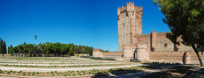 La Mota castle. XV century. Medina del Campo, Valldolid. Spain Royalty Free Stock Photo