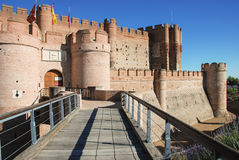 La Mota castle. XV century. Medina del Campo, Valldolid. Spain Royalty Free Stock Images