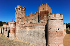 La Mota castle. XV century. Medina del Campo, Valldolid. Spain Stock Photo