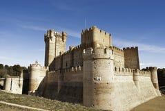 La Mota - oud kasteel in Medina del Campo, Spanje stock fotografie