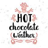 La motivation saisonnière d'hiver cite le texte Belle carte de plaisirs de temps froid avec la calligraphie et les illustrations  illustration stock