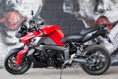 La moto de BMW de sport a photographié extérieur Image libre de droits