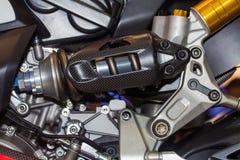 La moto de l'amortisseur Photographie stock libre de droits