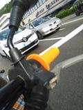 La moto e la strada Royalty Free Stock Photography