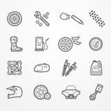La moto partie des icônes illustration libre de droits