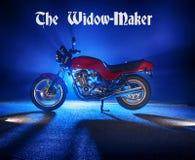 La motocicleta del fabricante de la viuda Fotos de archivo