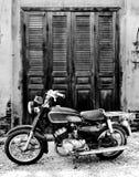 La motocicleta vieja Foto de archivo