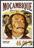 La MOZAMBIQUE - 2006 : expositions Salvador Dali 1904-1989, peintre Image libre de droits
