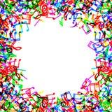 La música observa el marco de la frontera Imágenes de archivo libres de regalías