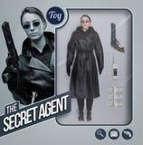 La muñeca realista del agente secreto fotografía de archivo libre de regalías