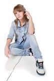 La muchacha - adolescente en estudio Imagenes de archivo