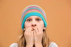 La muchacha adolescente sorprendida Fotos de archivo