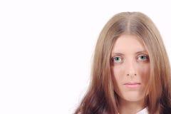 La muchacha agradable que le mira Imagen de archivo
