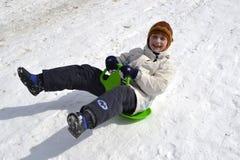 Niño en invierno Foto de archivo libre de regalías