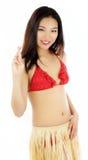 La muchacha asiática atractiva 20 años tiró en estudio Fotografía de archivo