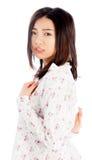 La muchacha asiática atractiva 20 años tiró en estudio Imagen de archivo