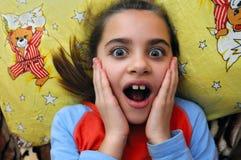 La muchacha asombrosamente imágenes de archivo libres de regalías