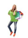 El cliente feliz Foto de archivo libre de regalías