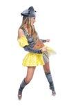 La muchacha baila danza erótica Imagen de archivo libre de regalías